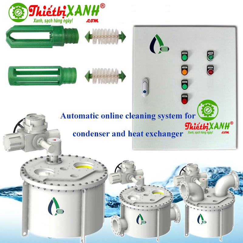 Hệ thống làm sạch tự động ống trao đổi nhiệt Chiller