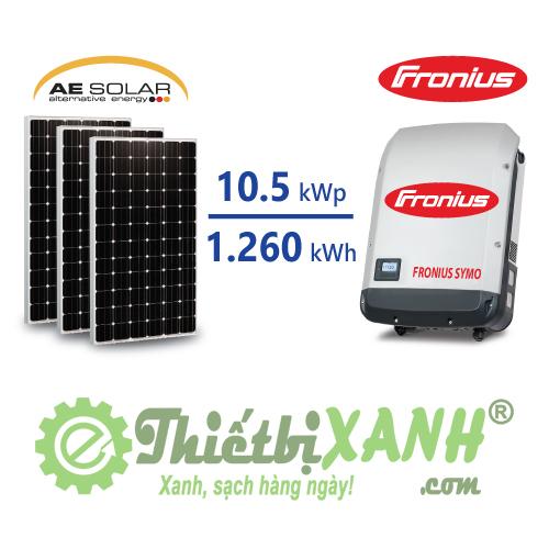 Hệ thống điện mặt trời hòa lưới 10,5 kW 03 pha