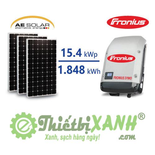 Hệ thống điện mặt trời hòa lưới 15,4 kW 03 pha