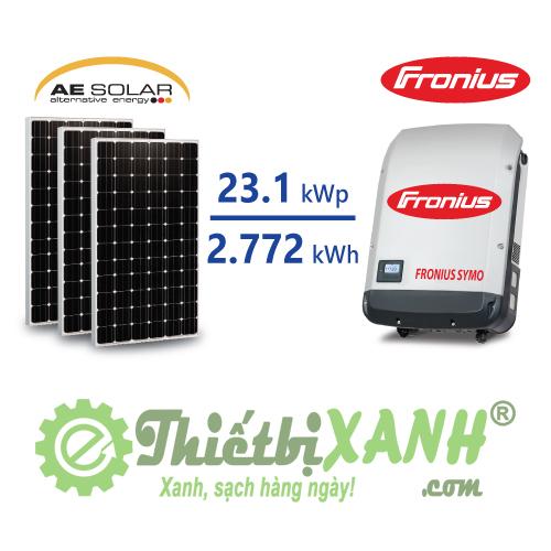 Hệ thống điện mặt trời hòa lưới 23,1 kW 03 pha