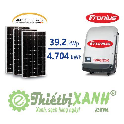 Hệ thống điện mặt trời hòa lưới 39,2 kW 03 pha