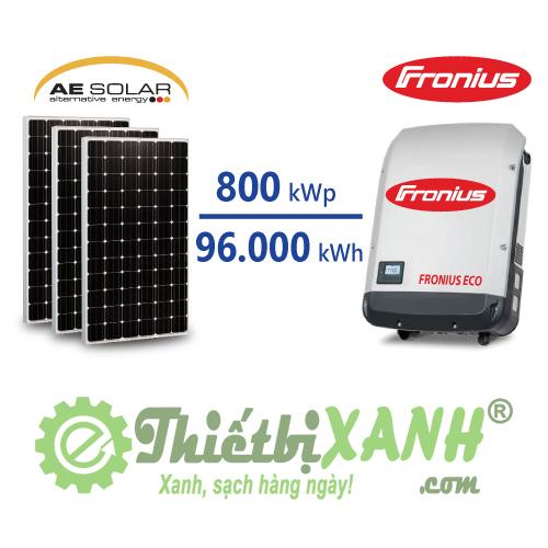 Hệ thống điện mặt trời hòa lưới 800 kW 03 pha